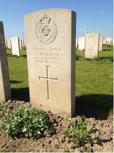 Sapper George Ramsdall's grave