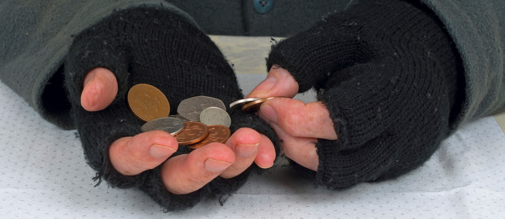 Poverty,hardship - counting the pennies UK