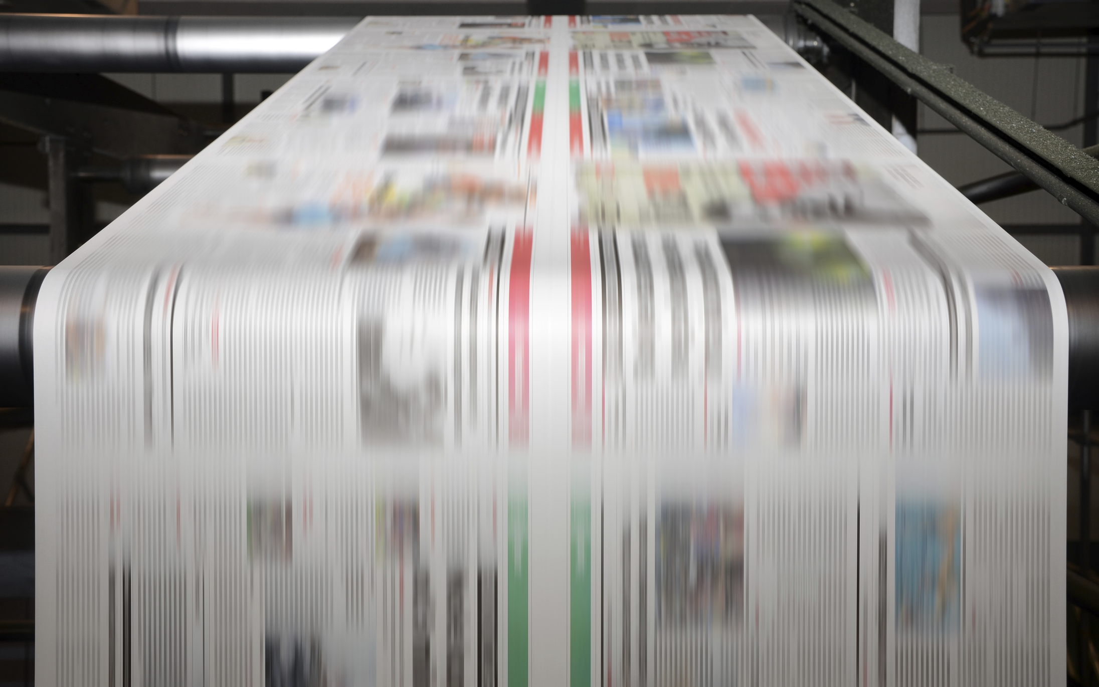 newspapers off press