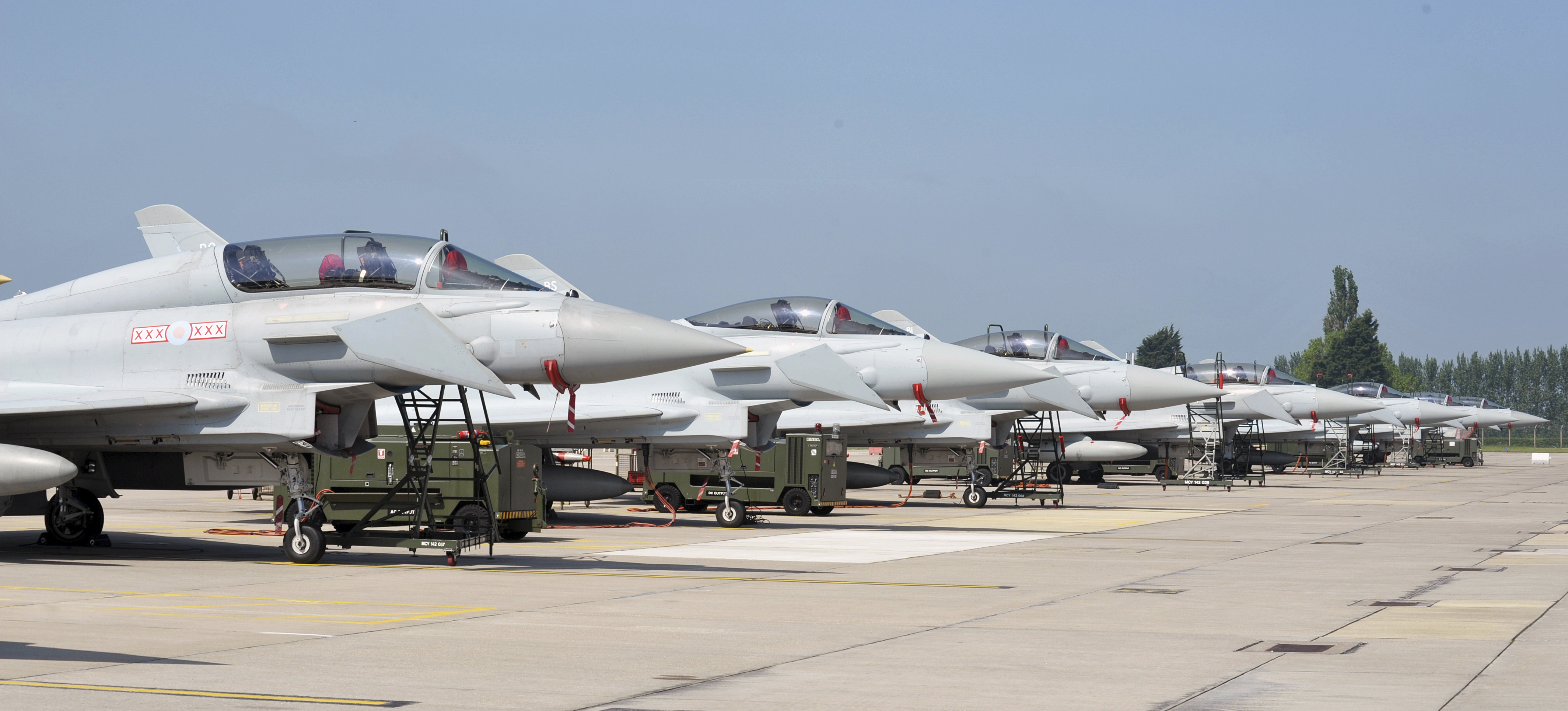 Typhoon flightline