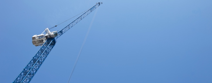 View from below of Crane