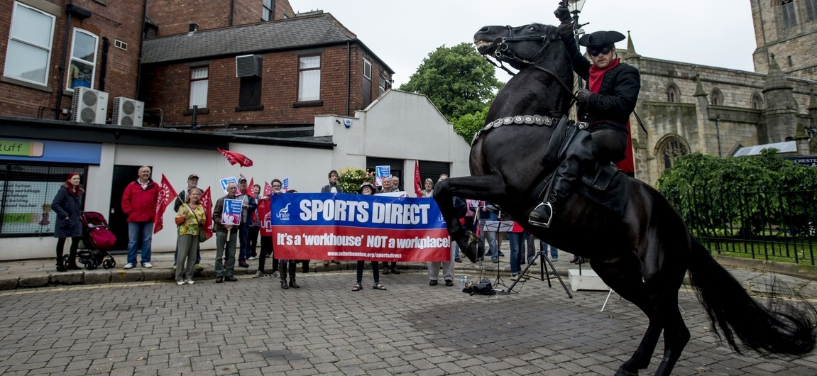 SportsDirect protest, Chesterfield