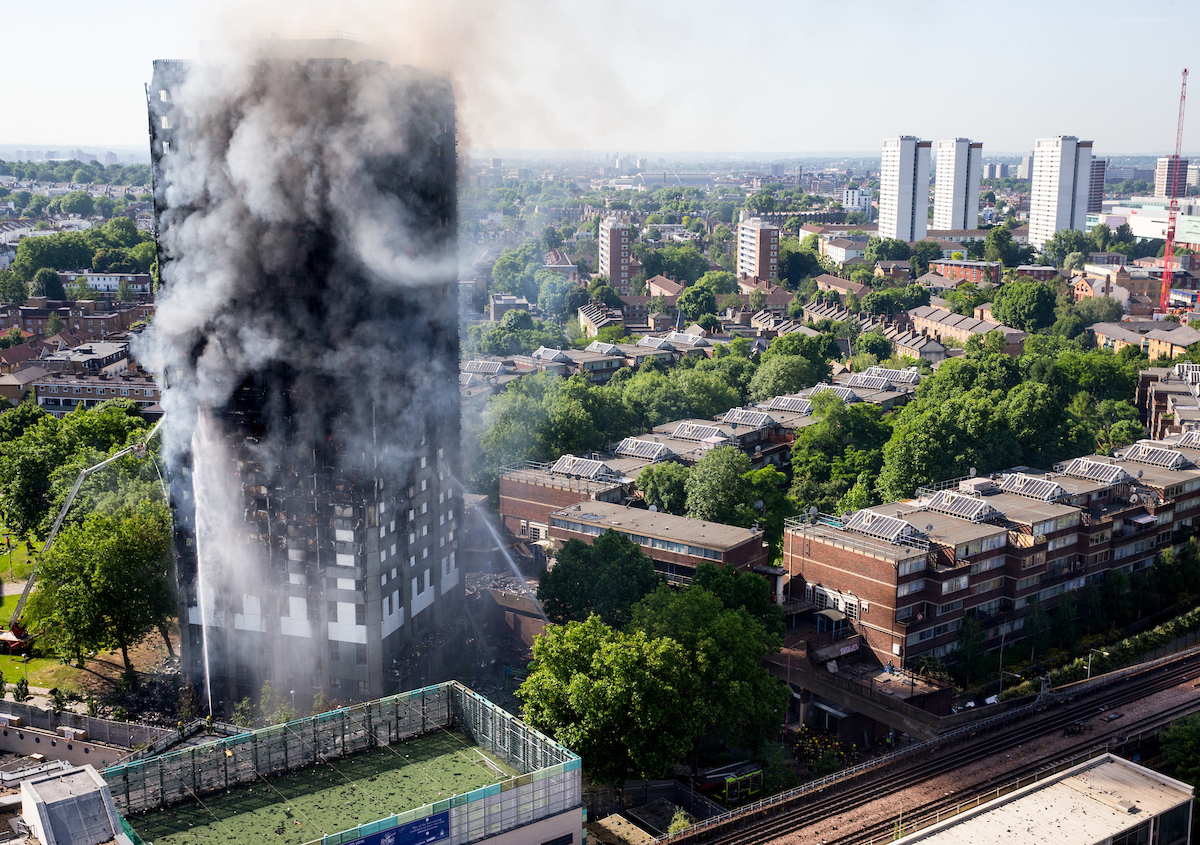 Emergency services attend a major fire at Glenfall Tower in Latimer road.Police say there have been several casualties. Image ©Licensed to i-Images Picture Agency. 14/06/2017. London, United Kingdom. Fire at Glenfall tower, London. Picture by Mark Thomas / i-Images