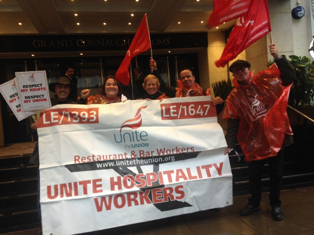 Hospitality protest