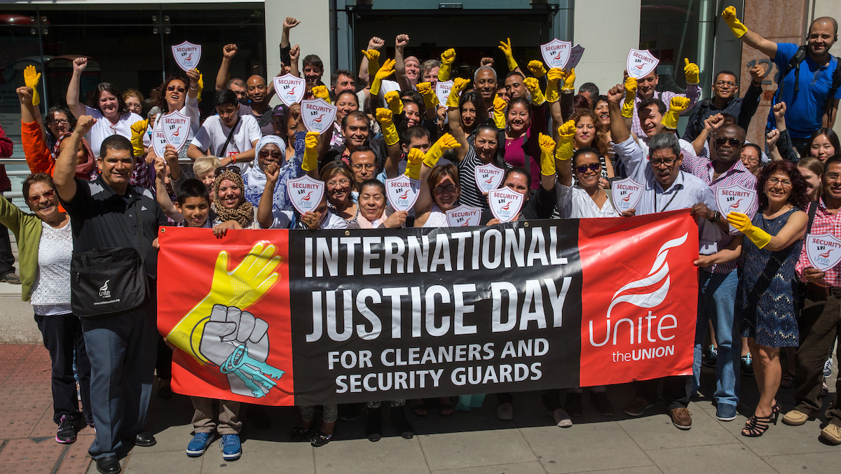 cleaners security protest