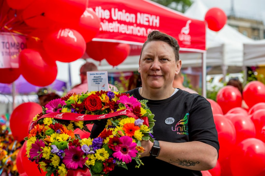 Sharon Wadwell, a Unite workplace rep at First Bus company,
