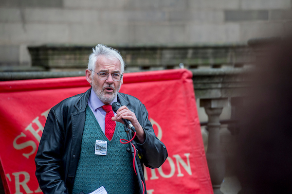 Martin Mayer, Unite the Union and Secretary Sheffield TUC
