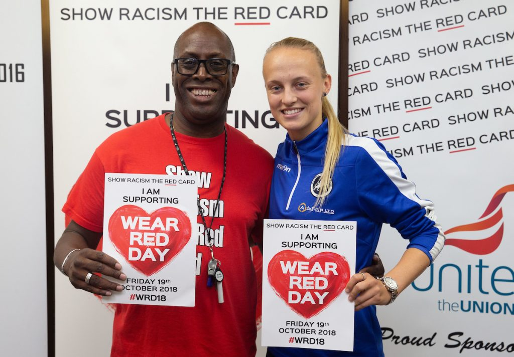 Wear Red Day James Mitchell with Riva