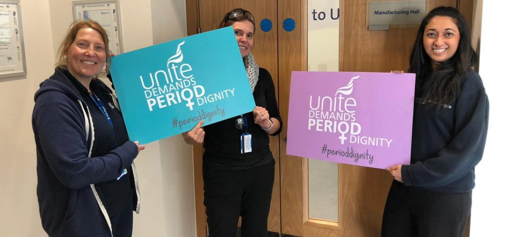 Rolls-Royce Washington in Sunderland first to adopt Unite's period dignity charter