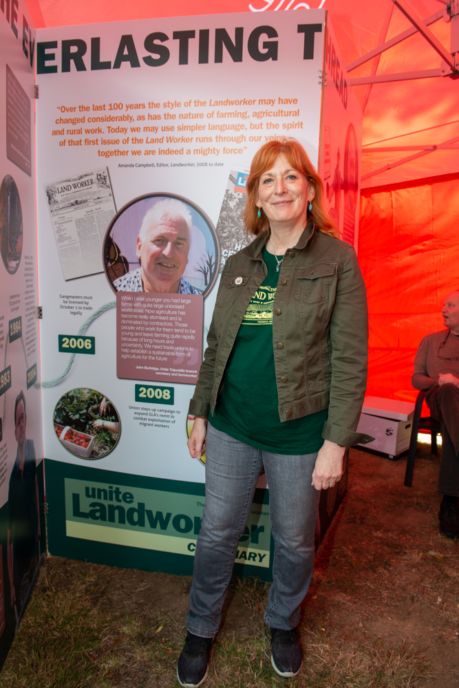 The Landworker Editor and invited speaker at the 2019 Burston Rally, Amanda Campbell.