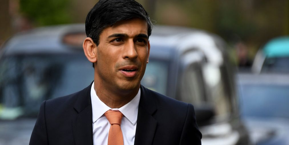 Britains newly appointed Chancellor Of The Exchequer Rishi Sunak arrives at the Treasury following Boris Johnsons Government reshuffle, London on February 13, 2020. (Photo by Alberto Pezzali/NurPhoto via Getty Images)